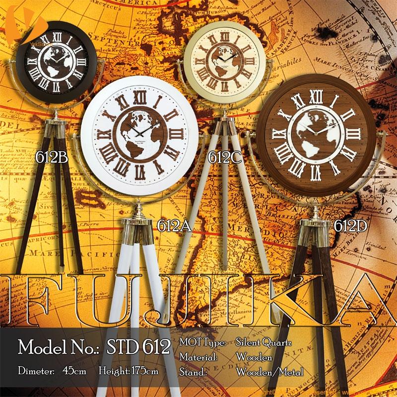 ساعت سالنی ایستاده فوجیکا مدل Fujika Stand Base Clock STD 612