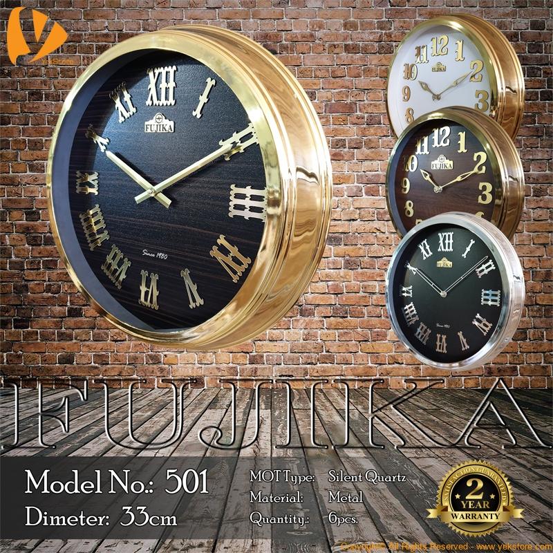 fujika-metal-wall-clock-501-b